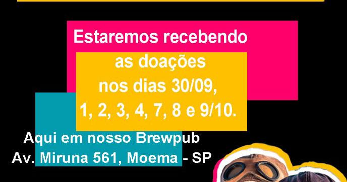 SOMA Cervejaria promove ação para arrecadar brinquedos e livros infantis na Semana da Criança Eventos BaresSP 570x300 imagem