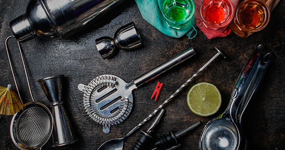 Principais materiais para bartender