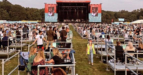 Nova realidade: veja como foi o primeiro show com distanciamento social no Reino Unido Eventos BaresSP 570x300 imagem