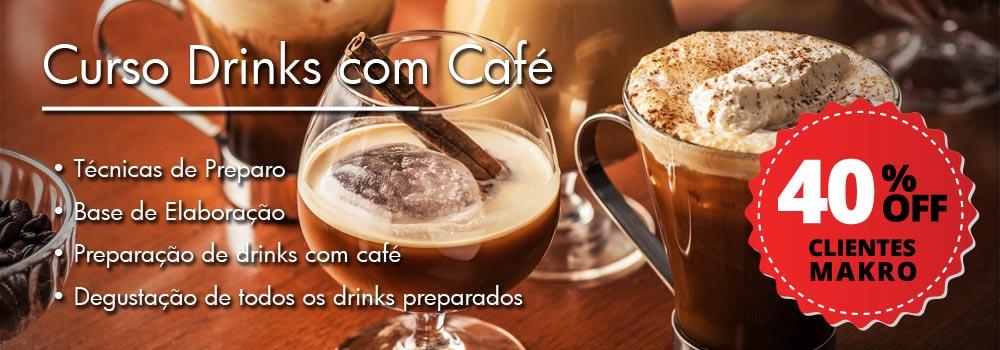 Parceiro Curso Drinks com Café com desconto de 40%