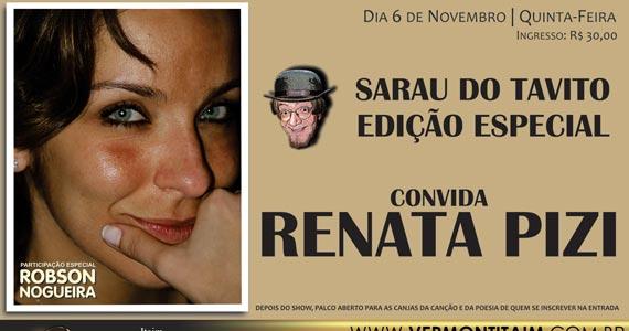 Sarau do Tavito com show de Renata Pizi e Robson Nogueira no Vermont Itaim Eventos BaresSP 570x300 imagem