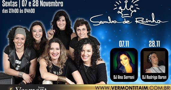 Apresentação de Samba de Rainha com DJs convidados no palco do Vermont  Eventos BaresSP 570x300 imagem