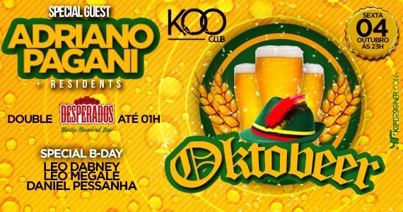 Koo Club realiza primeiro festival da cerveja Oktobeer com promoções e atrações nesta sexta-feira Eventos BaresSP 570x300 imagem
