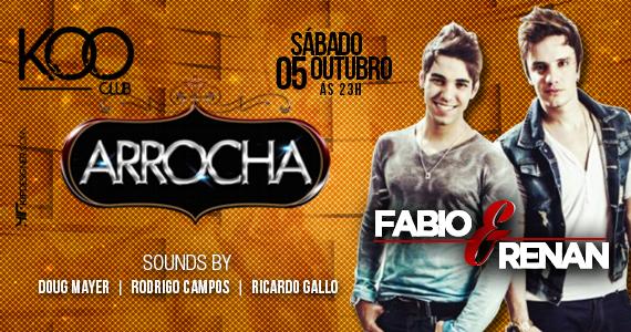 Koo Club recebe Fabio & Renan para agitar a noite de sábado com muito arrocha Eventos BaresSP 570x300 imagem