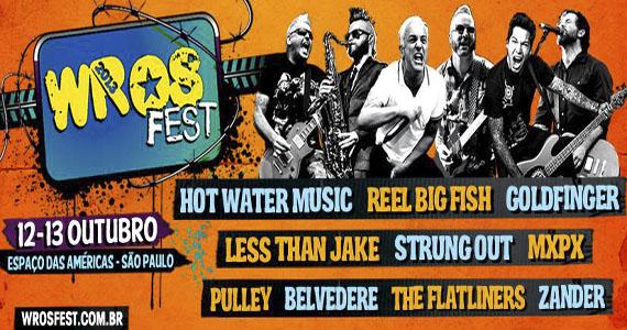 Hot Water Music é a atração principal do primeiro dia do Wros Fest 2013 no Espaço das Américas Eventos BaresSP 570x300 imagem