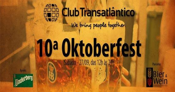 Club Transatlântico recebe a 10ª Oktoberfest neste sábado com muitas atrações Eventos BaresSP 570x300 imagem