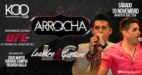 Leandro & Gustavo agitam mais uma festa Arrocha deste sábado na Koo Club Eventos BaresSP 570x300 imagem