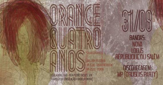 Festa de comemoração dos 4 anos da Orange Produções no Kabul Bar  Eventos BaresSP 570x300 imagem