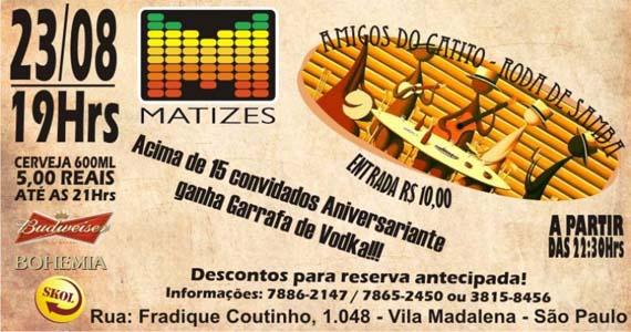 Matizes recebe Roda de Samba com Amigos do Catito nesta sexta-feira Eventos BaresSP 570x300 imagem