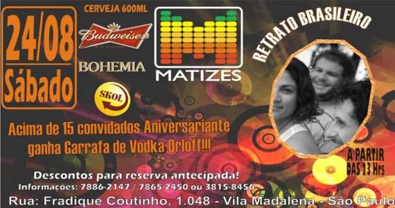 Bar Matizes recebe Retrato Brasileiro para animar a noite do público presente no sábado Eventos BaresSP 570x300 imagem