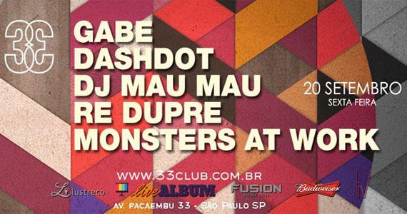 Sexta-feira com convidados agitando a pista do Club 33, na Barra Funda Eventos BaresSP 570x300 imagem