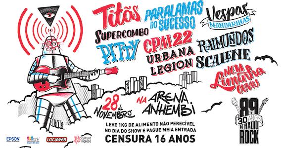 89FM reúne Paralamas, Titãs, Pitty, Raimundos, CPM22 e mais em show para celebrar seus 30 anos na Arena Anhembi Eventos BaresSP 570x300 imagem