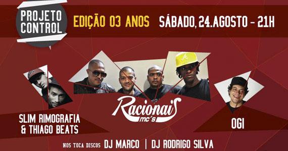 Racionais MC's é o grande destaque dos 3 anos do Projeto Control no Clube Aramaçan Eventos BaresSP 570x300 imagem