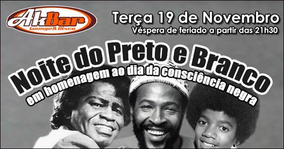 Noite do Preto e Branco em homenagem a Consciência Negra no Akbar Eventos BaresSP 570x300 imagem