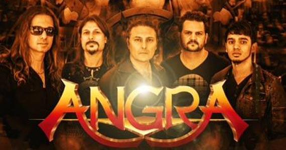 Banda brasileira de heavy metal Angra se apresenta em show no Tom Brasil (antigo HSBC Brasil) Eventos BaresSP 570x300 imagem