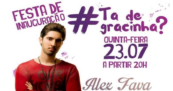 Gràcia Bar apresenta Alex Fava tocando sertanejo no Projeto #tádegracinha? Eventos BaresSP 570x300 imagem