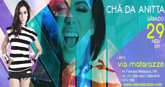 Via Matarazzo recebe a festa Chá da Anitta com show da cantora Anitta no sábado Eventos BaresSP 570x300 imagem