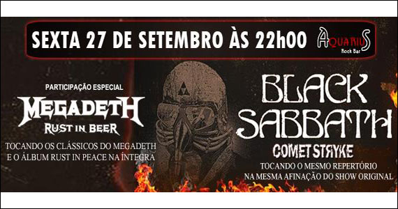 Aquecimento para o show de Black Sabbath com a banda Comet Striyke no Aquarius - Rota do Rock Eventos BaresSP 570x300 imagem