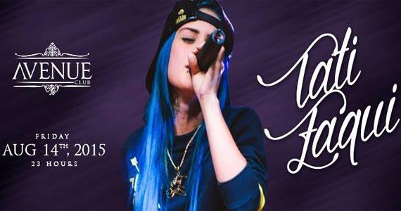 Avenue Club recebe show ao vivo da cantora MC Tati Zaqui na sexta Eventos BaresSP 570x300 imagem