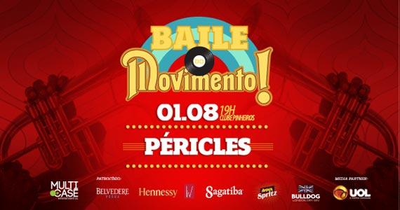 Baile do Movimento com show do cantor Péricles no Esporte Clube Pinheiros Eventos BaresSP 570x300 imagem