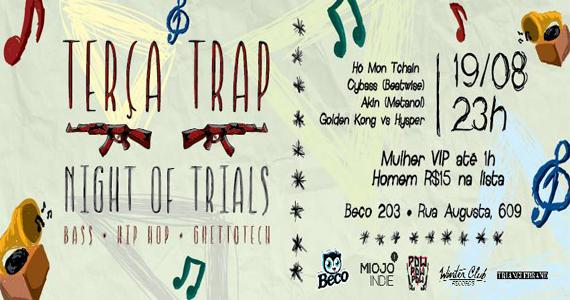 Festa Trap Night of Trials com line-up especial para animar a noite do Beco 203 Eventos BaresSP 570x300 imagem