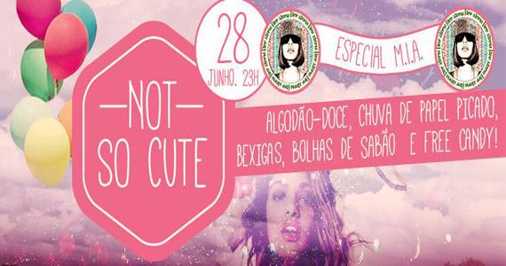 Festa Not So Cute! especial M.I.A. para animar o sábado do Beco 203 Eventos BaresSP 570x300 imagem