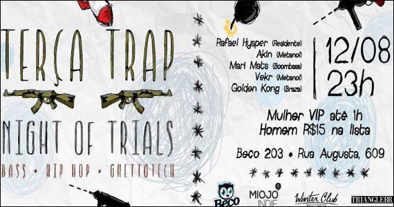 Acontece na terça-feira a Festa Night of Trials I Bass no Beco 203 Eventos BaresSP 570x300 imagem