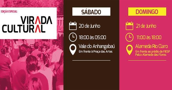 Virada Cultural com Trucks da Benê Food Des Arts na Alameda das Flores no domingo Eventos BaresSP 570x300 imagem