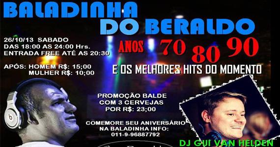Acontece no sábado a Baladinha do Beraldo com convidados especiais Eventos BaresSP 570x300 imagem