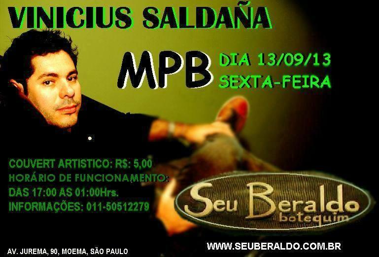 Apresentação de Vinicius Saldaña na sexta-feira no Seu Beraldo Eventos BaresSP 570x300 imagem