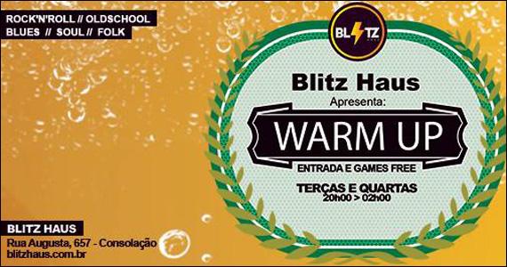 Quarta-feira acontece a Festa Warm Up na Blitz Haus - Rota do Rock Eventos BaresSP 570x300 imagem