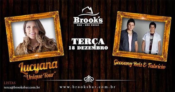 Apresentação de Lucyana Unique Tour e Giovany Reis & Fabrício no Brook's Bar Eventos BaresSP 570x300 imagem