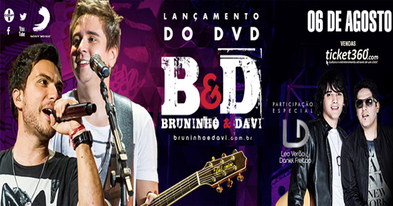 Lançamento do DVD da dupla Bruninho & Davi nesta quarta-feira na Brooks SP Eventos BaresSP 570x300 imagem