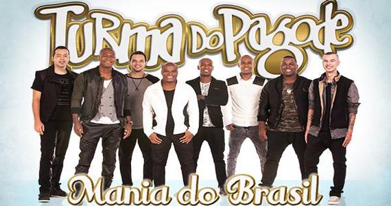 Turma do Pagode apresenta o CD Mania do Brasil no palco da Brook's SP Eventos BaresSP 570x300 imagem
