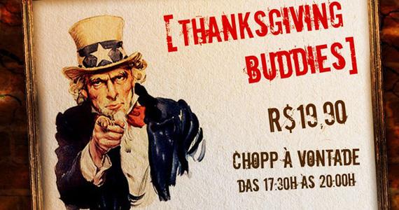 Jogo de futebol americano e festa temática para o Dia de Ação de Graças no Buddies American Pub Eventos BaresSP 570x300 imagem