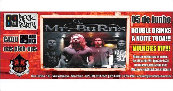 Republic Pub embala a noite de quinta-feira com a banda MR Burns - 89 Rock Party - Rota do Rock Eventos BaresSP 570x300 imagem