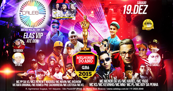 Festa Melhores do Ano reúne MC's para animar o sábado no Caleb SP Eventos BaresSP 570x300 imagem