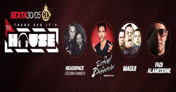 Festa TGI House reúne DJs convidados para animar o Club A São Paulo Eventos BaresSP 570x300 imagem