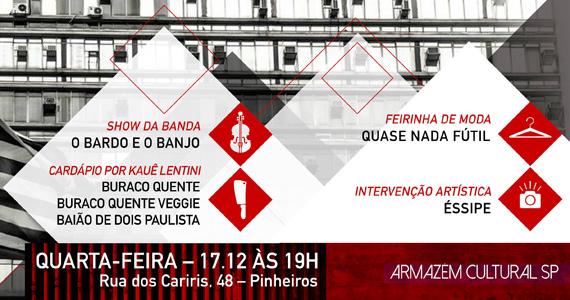 Festa Cultura 011 une música, arte e gastronomia no Armazém Cultural SP Eventos BaresSP 570x300 imagem