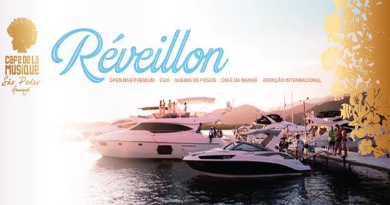 Cafe de La Musique Beach Club promove Festa de Réveillon com Open Bar Premium Eventos BaresSP 570x300 imagem