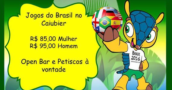 Pacotes especiais para os jogos do Brasil na Copa do Mundo no Caiubier Bar Eventos BaresSP 570x300 imagem
