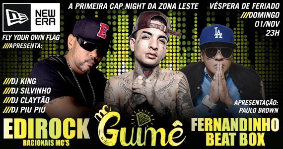 Mc Guimê, Edi Rock e Fernandinho Beat Box agitam a noite do Caleb SP Eventos BaresSP 570x300 imagem