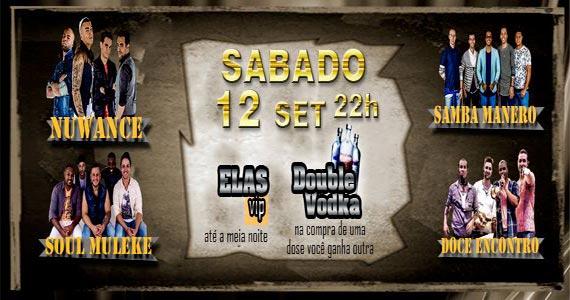 Noite das Mulheres com Double Vodka e grupos de samba e pagode no Caleb SP Eventos BaresSP 570x300 imagem