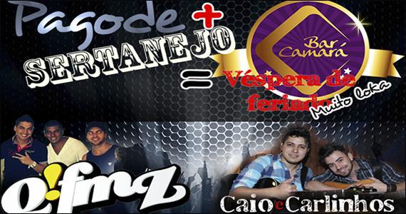 Pagode e Sertanejo na véspera de feriado no Bar Camará  Eventos BaresSP 570x300 imagem
