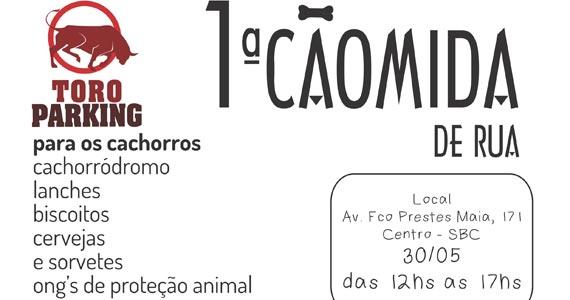1ª Cãomida de Rua do ABC feito especialmente para Cachorros na Toro Parking Eventos BaresSP 570x300 imagem