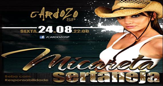 Cardozo Bar apresenta a Noite Micareta Sertaneja com apresentações ao vivo Eventos BaresSP 570x300 imagem