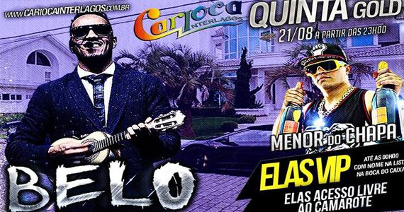 Belo e Menor do Chapa comandam a noite de quinta-feira no Carioca Interlagos Eventos BaresSP 570x300 imagem