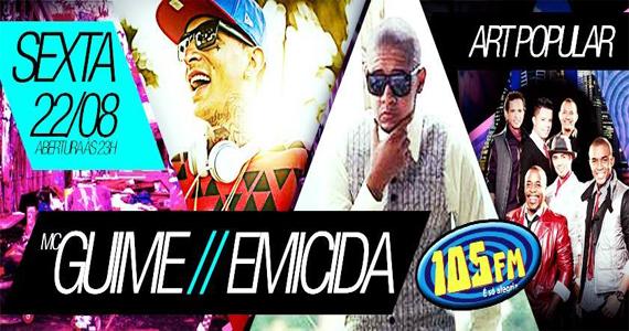 Festa da 105 FM com Emicida, Art Popular e MC Guime no Carioca Club Eventos BaresSP 570x300 imagem