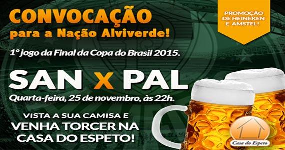 Casa do Espeto transmite o Jogo da final da Copa do Brasil entre Santos x Palmeiras Eventos BaresSP 570x300 imagem