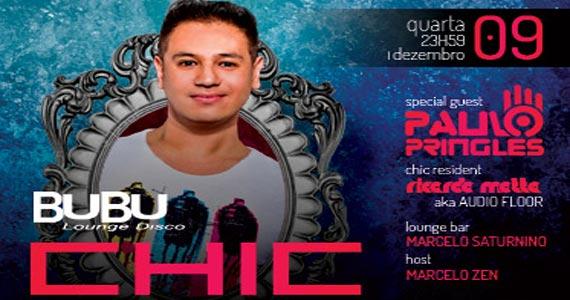 Bubu Lounge Disco realiza mais uma edição da festa Chic!  Eventos BaresSP 570x300 imagem